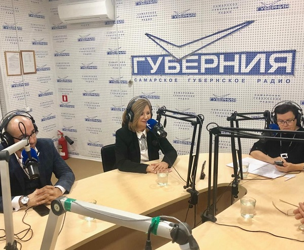 На радио «Губерния» прошел прямой эфир с участием Марины Сидухиной