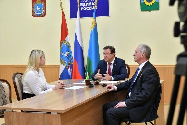 Дмитрий Азаров провел прием граждан в Богатовском районе